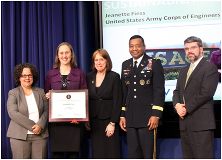 GreenGov Presidential Awards - Sustainability Award - Jeanette Fiess, USACE
