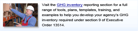 Click to access FedCenter's GHG Inventory Reporting module for Federal agencies.